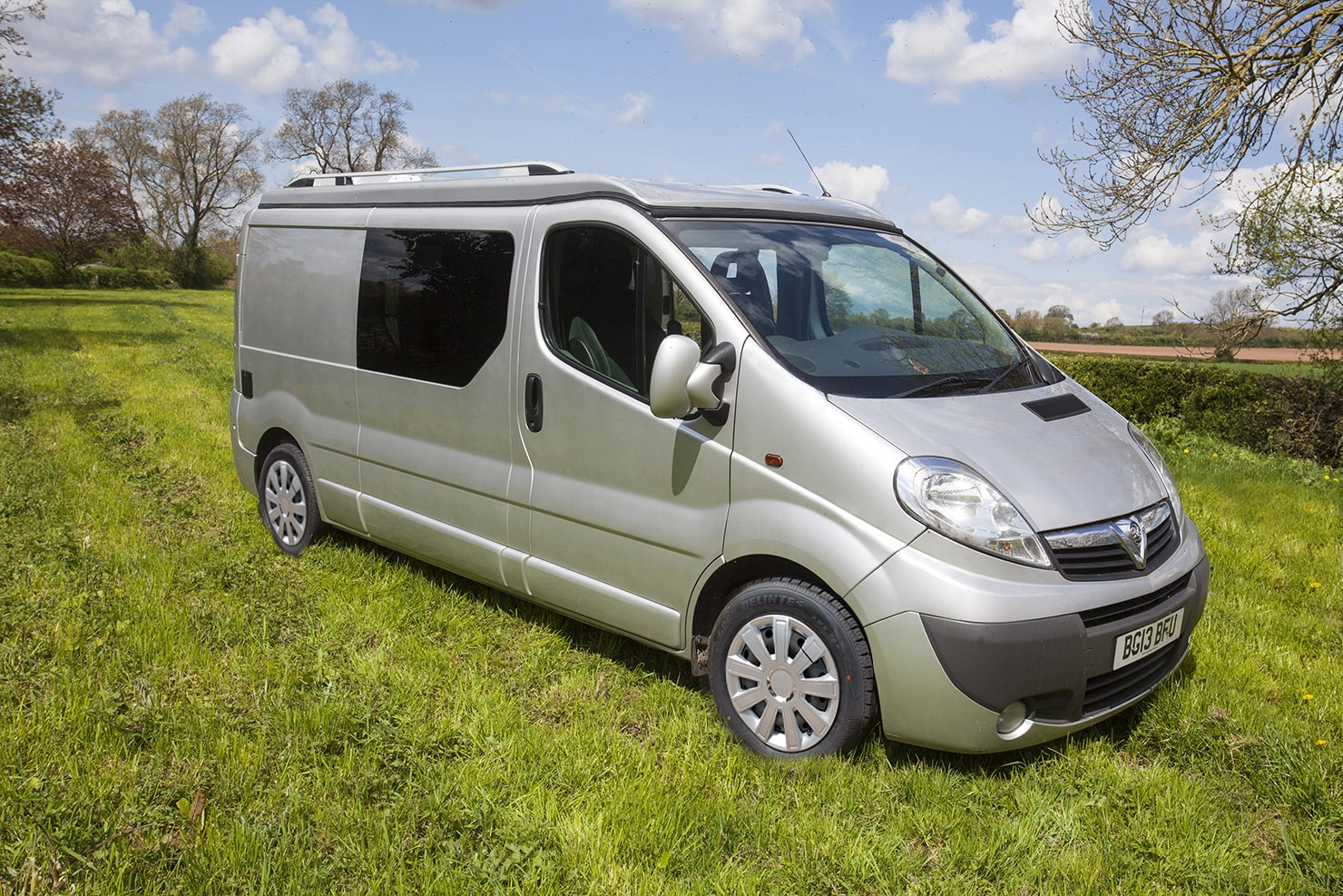 Sylvester Campervan exterior styling. Showing the sleek modern style, belying the interior!