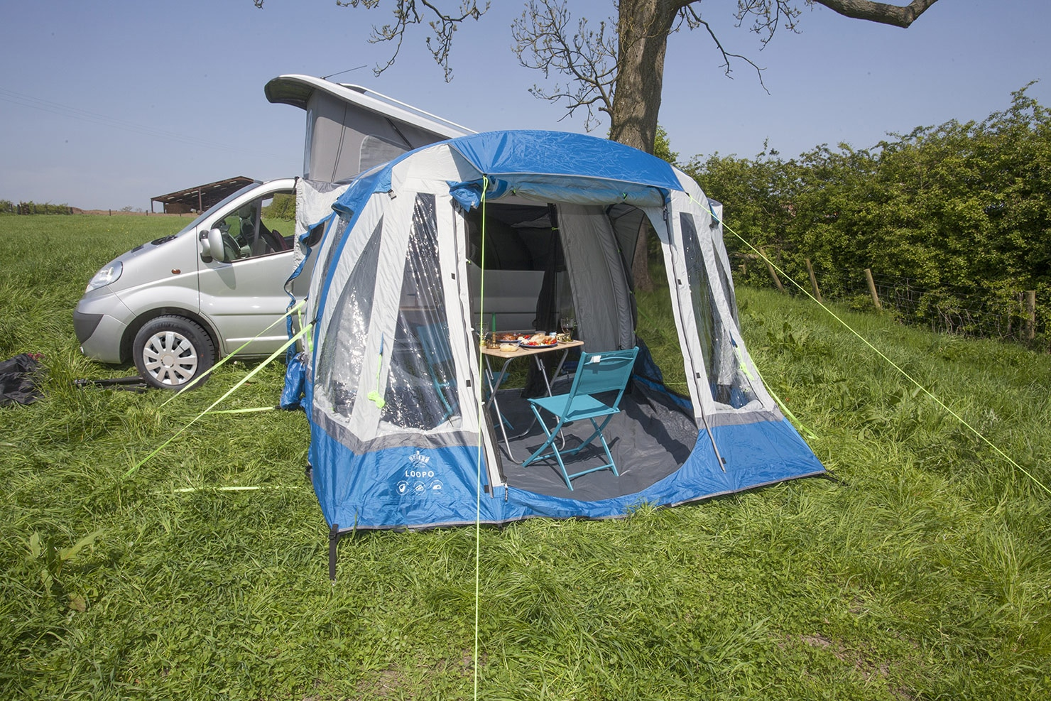 Easy to erect Air Awning