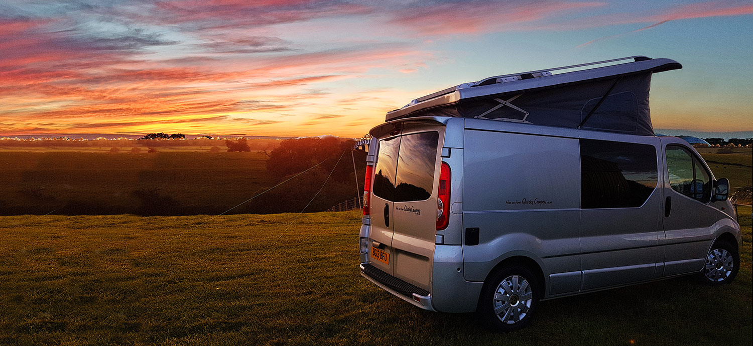 Beautiful sunsets are just one of the many attractions of campervan life on the road.