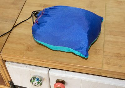 Fits into a small carry bag for ease of storage.
